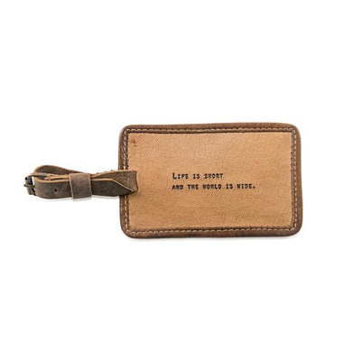 Life Is Short - Leather Luggage Tag