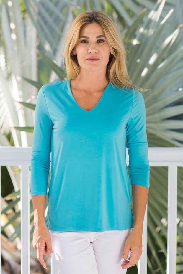 V-Neck Solid Mykonos