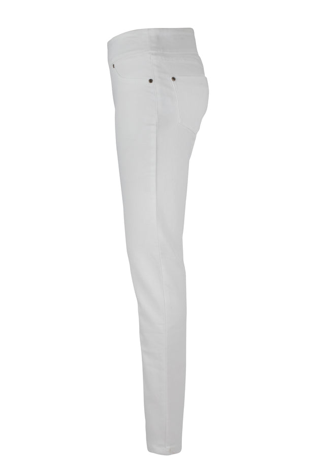 White Pull On Skinny Denim Pant