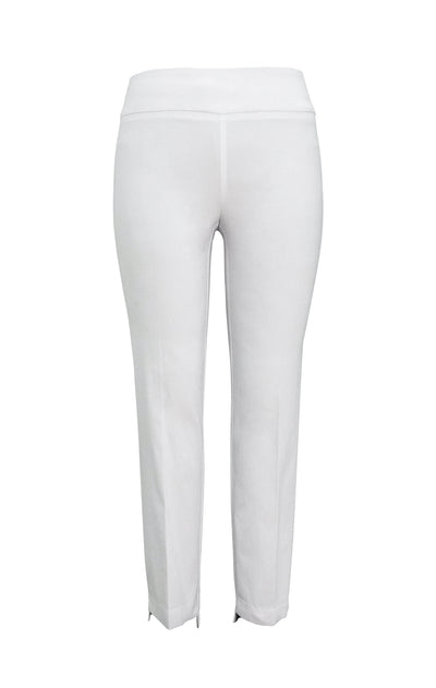 White Step Hem Techno Slim Leg Pant