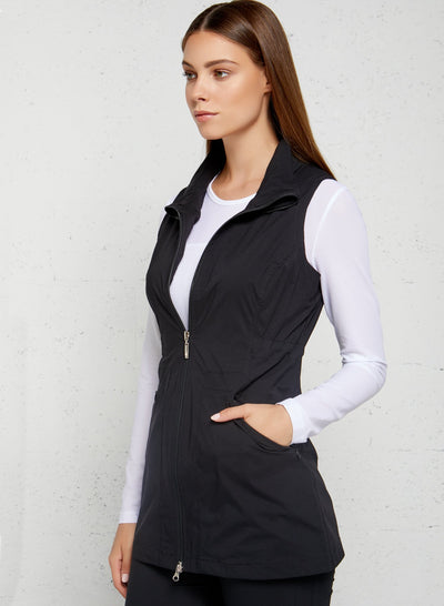Black Delaney Travel Vest