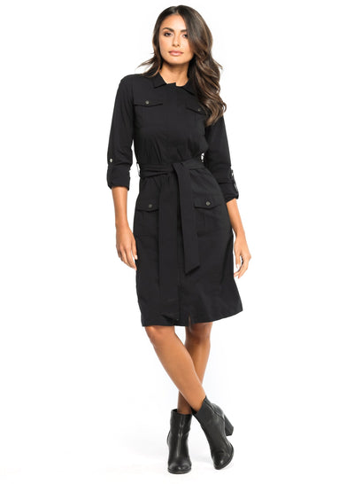 Black Lina Cargo Dress