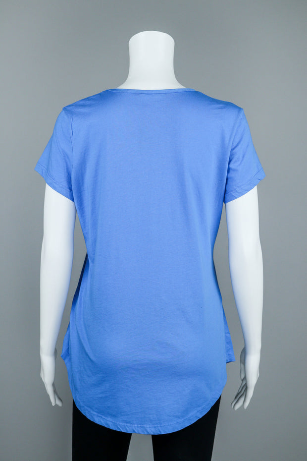 Short Sleeve Cotton Shirt Tail T-Shirt