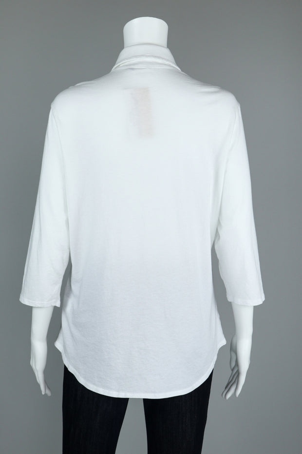 Cotton 3/4 Sleeve Relaxed Shirt