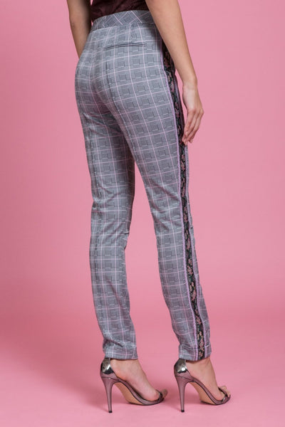 Glen Pink Stretch Trouser