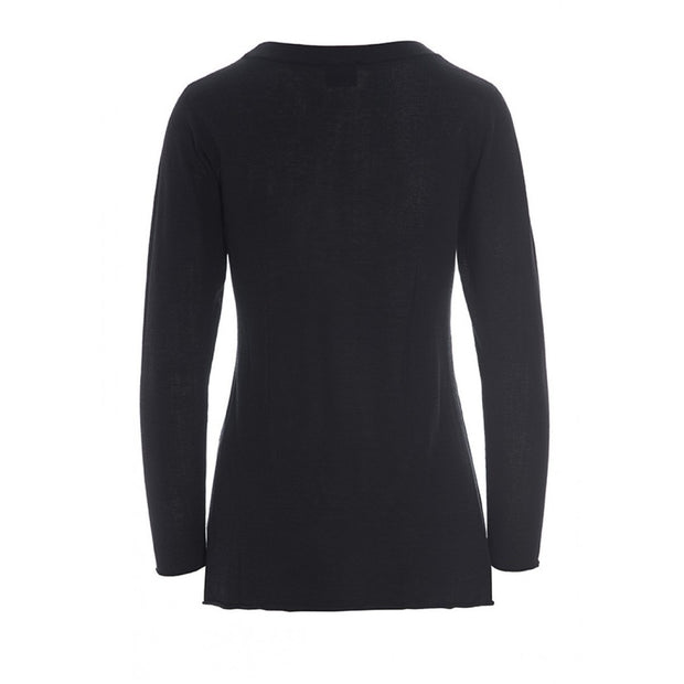 Black Luxor Knit Blouse