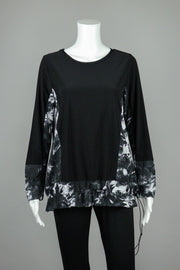 Sun Kim Grey Print Sally Top