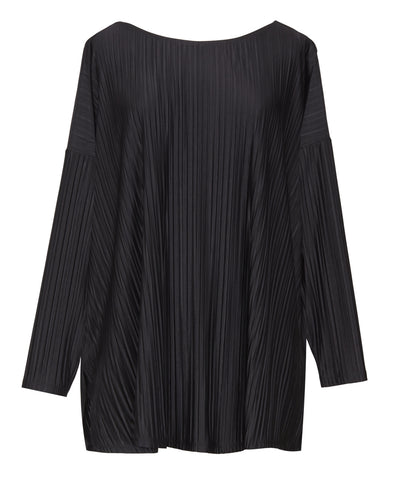 Pleated Black Top