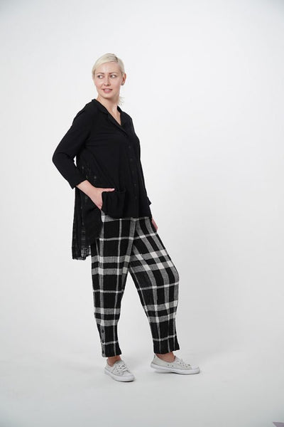 Grace Black Cotton Long Sleeve Knit Jacket