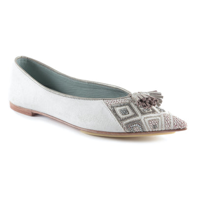 Freya Point Leather Embroidery Ballet
