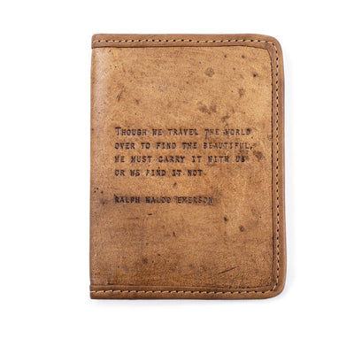 Ralph Waldo Emerson - Leather Passport Cover