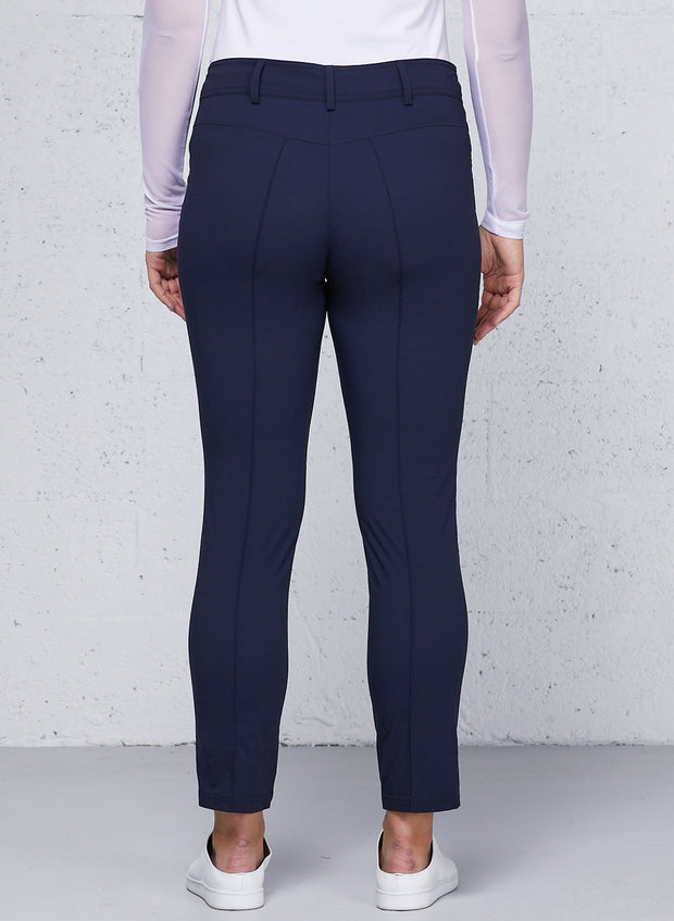 Navy Peggy Curvy Zippered Pants
