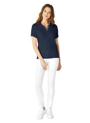Navy Ella Short Sleeve Polo