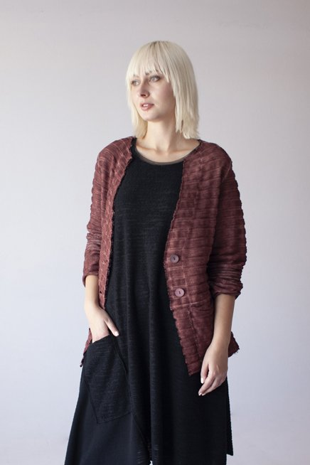 Beverly Cinnamon Cotton Cardigan