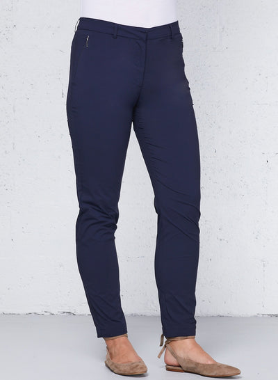 Navy Thea Curvy Straight Leg Pants
