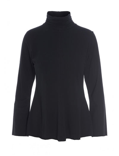 Black Atlas Jersey Turtleneck Blouse