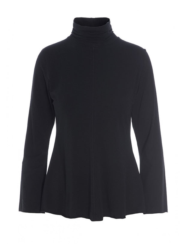 Bitte Kai Rand Black Atlas Jersey Turtleneck Blouse