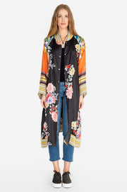 Long Fiori Reversible Coat