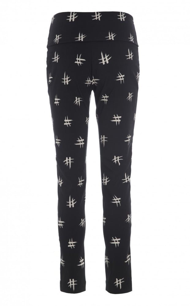 Black Hashtag Stretch Pant