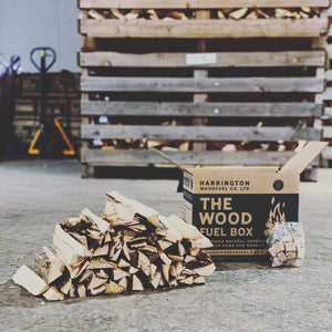 "Box of Kiln-Dried Hardwood Kindling (9.5"") + 16 x Biomass Firelighters"