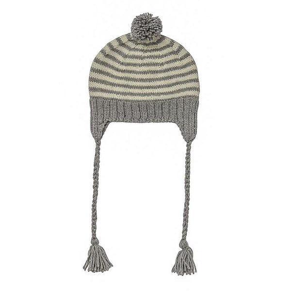 ACORN Adventure Beanie Grey Stripe