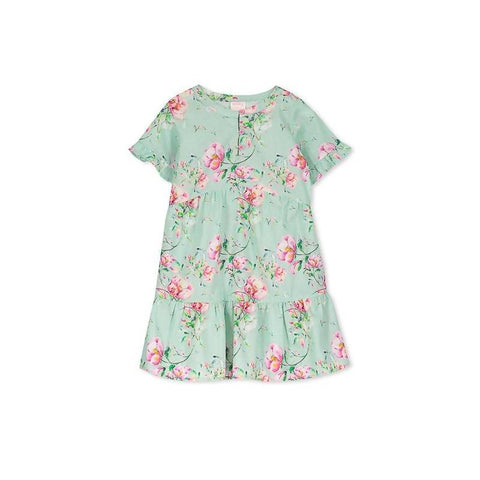 Milky Pretty Floral Dress - Jade Green