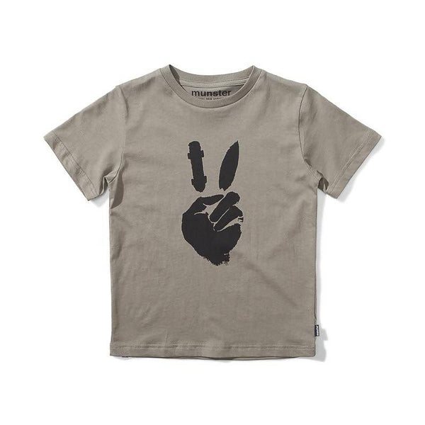 Munster Peace Out Jersey SS Tee - Grape