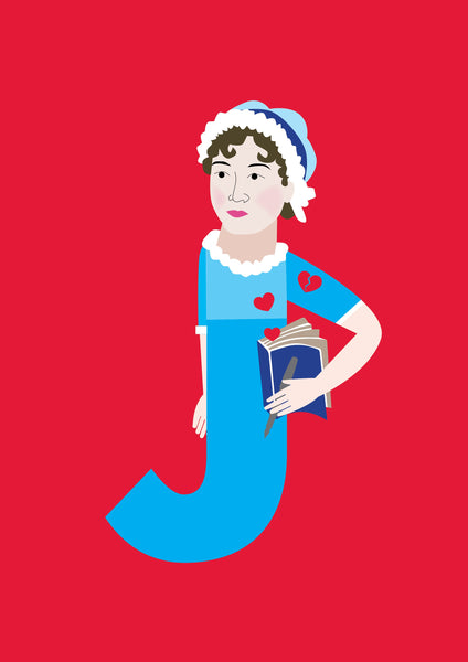 ALPHABET LEGENDS JANE AUSTEN POSTER