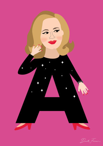 ALPHABET LEGENDS ADELE POSTER