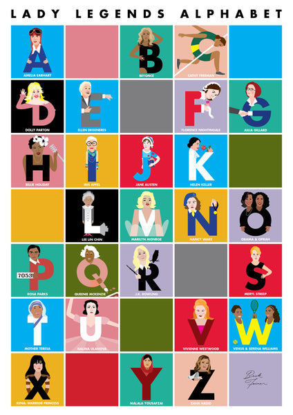 LADY LEGENDS ALPHABET