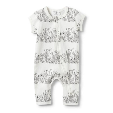 Wilson & Frenchy Wonderful Short Sleeve Zipsuit