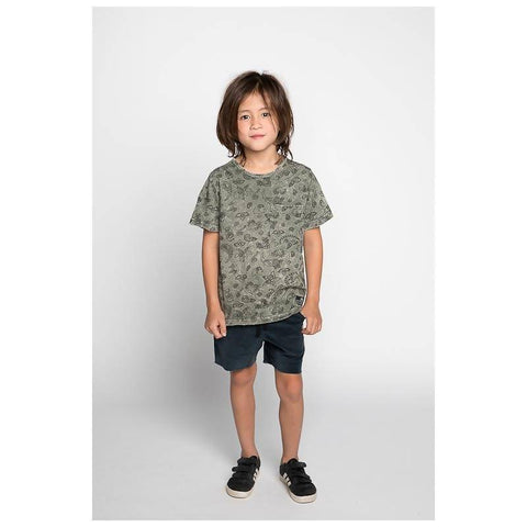 Munster Sketch Jersey SS Tee - Washed Olive