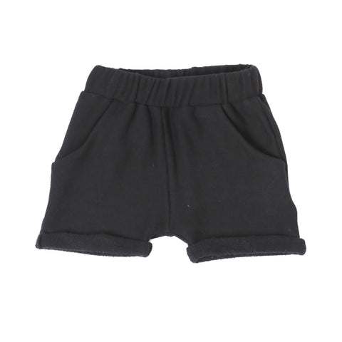 MICKEY ROSE Black Terry Shorts