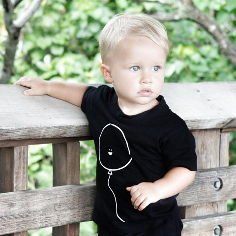 BAM!BABY Friendly Balloon Tee - black