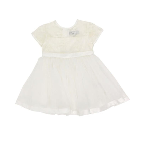 BEBE Organza Dress with Bow - Ivory