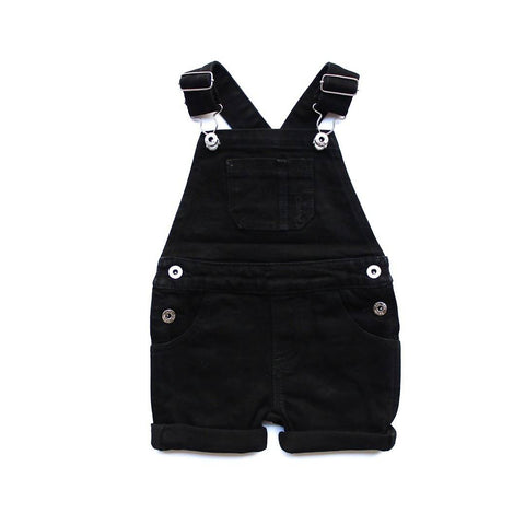 PRE ORDER Black Overall Shorts