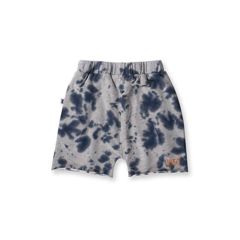 Minti Bleached Short - Grey/Blue