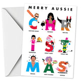 BUNDLE OF FIVE - AUSSIE ALPHABET CHRISTMAS CARDS