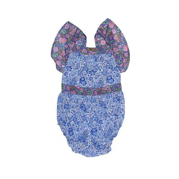 Coco and Ginger Camille Sunsuit Porcelain Indian Flowers Patch