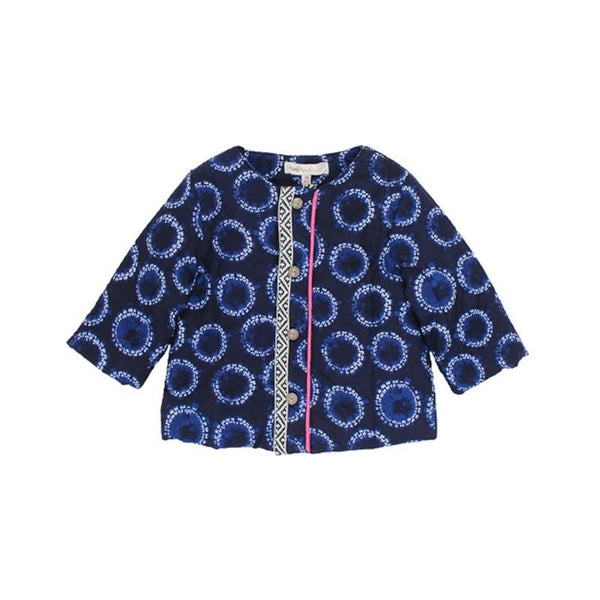 FOX & FINCH Baby Moonlight Print Jacket in Blue