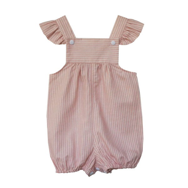 'Dusty Pink Stripe' Overalls