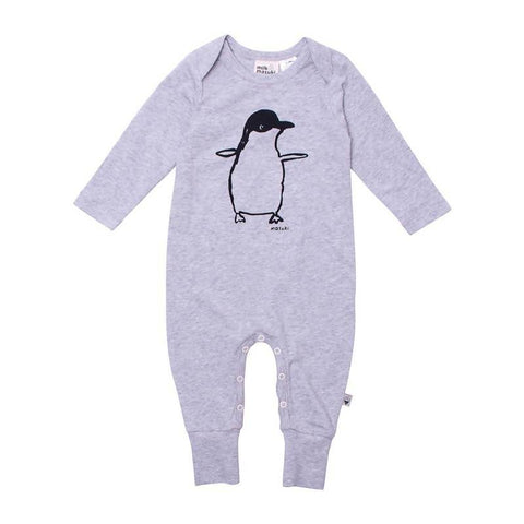 Milk & Masuki Baby L-S Button All Penguine Placement