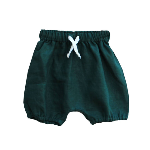 'Forest Green' 100% Linen Bloomers