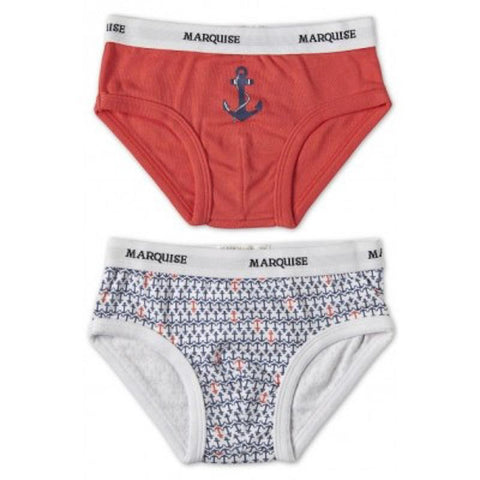 Marquise Boys 2-Pack Underwear Ahoy - Red Print