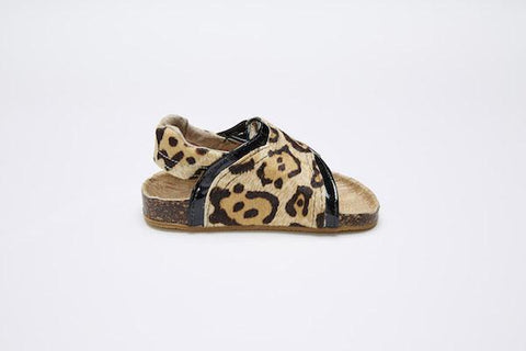 Love Luck & Wonder - Toodler T-bar sandal - Cheetah
