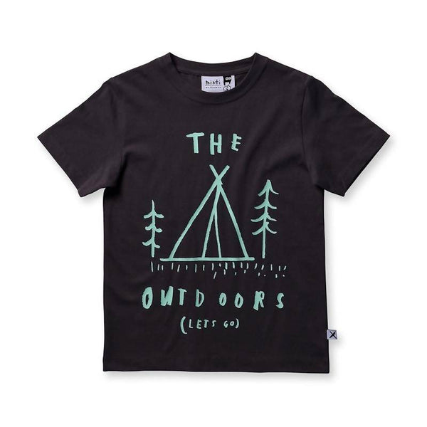 Minti The Outdoors Tee - Dark Grey