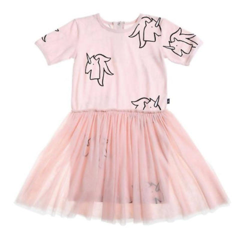 Anarkid Unicorn AOP Tutu Dress - Primrose Pink