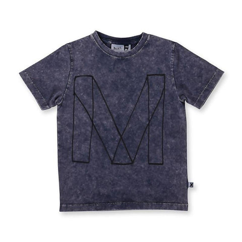 Minti Emblem Tee - Midnight Wash