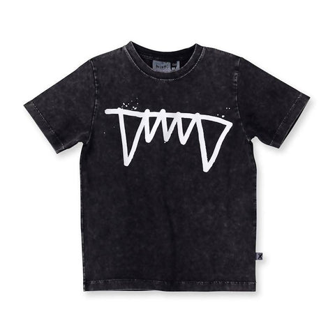 Minti Fangs Tee - Black Wash