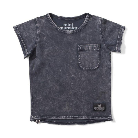 Mini Munster Stirred Jersey SS Tee - Acid Black